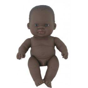 Miniland African Boy, 21 cm Naked
