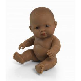 Miniland Doll Naked Baby Doll Hispanic Girl, 21 cm