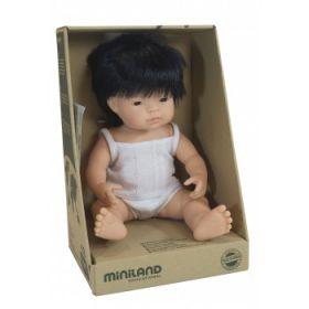 Miniland Doll Asian Boy, 38 cm