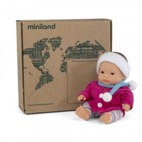 Miniland Asian Girl 21cm with Outfit - Boxed
