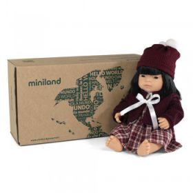 Miniland Asian Girl 38cm with Outfit - Boxed