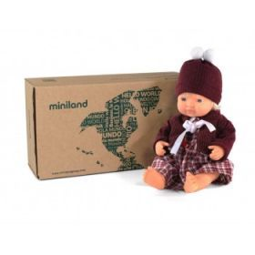 Miniland Caucasian Girl 38cm with Outfit - Boxed
