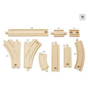 BRIO Tracks - Expansion Pack Intermediate- 16 pieces