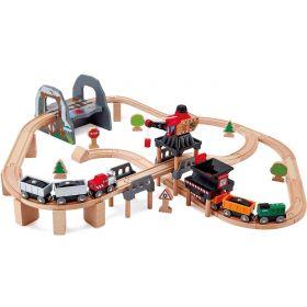 Hape Lift and Load Mining Play Set – Train Set