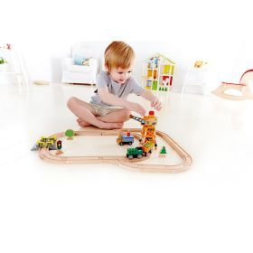 Hape Crane and Cargo Train Set