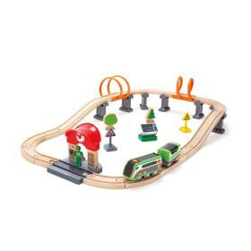 Hape Solar Powered Circuit Train Set 37 Pieces