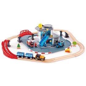 Hape Trainset Emergency Services HQ Train Set