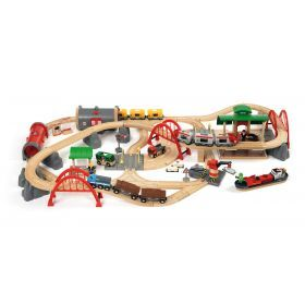 Brio Train Set - Deluxe Railway Set- 87 pieces