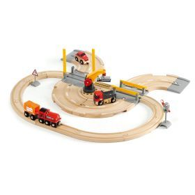 BRIO Set - Rail & Road Crane Set, 26 pieces
