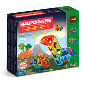 Magformers Mini Dinosaur Set - 40 Pieces