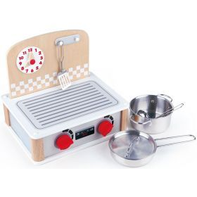 Hape 2-in-1 Kitchen & Grill Set 6 Pieces