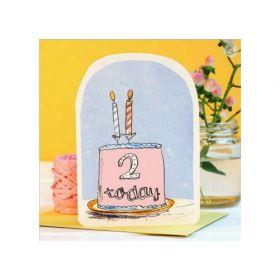 Birthday Card - 2 Today