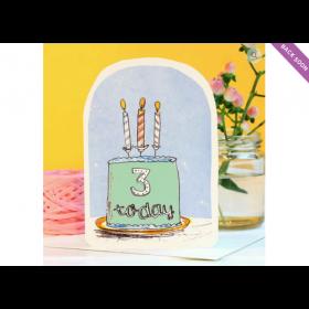 Birthday Card - 3 Today