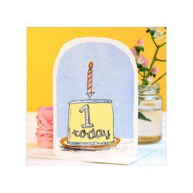 Birthday Card - 1 Today