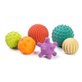 Miniland Aptitude Eco Sensory Natural Rubber Balls, 6 pcs