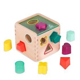 B Toys Wonder Cube, Wooden Shape Sorter