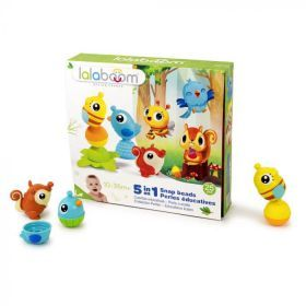 Lalaboom Animals Beads And Accessories Gift Set - 25Pc
