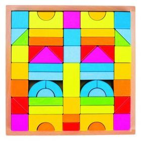 Goki Wooden Rainbow Building blocks
