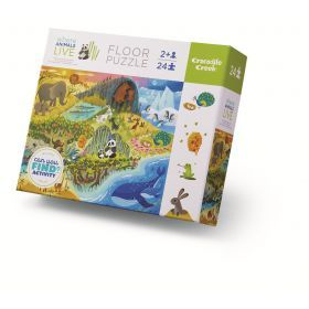 Crocodile Creek 24pc Early Learning Habitats