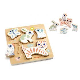 Baby Animali Wooden Puzzle