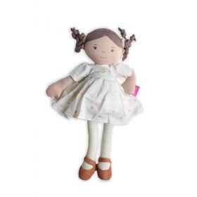 Cecilia Linen Doll with Brown Hair