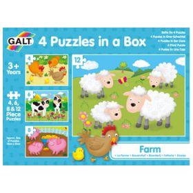 Galt - Four Puzzles In A Box - Farm