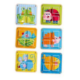HABA - Cubes Puzzle Garden Animals