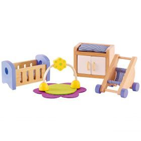 Hape Baby's Modern Bedroom - All Seasons Dollhouse