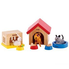 Hape Family Pet Set - Dollhouse furniture