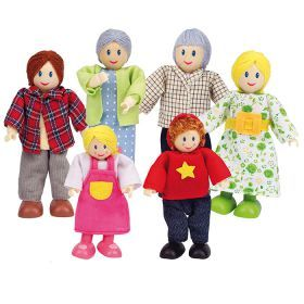 Hape Caucasian Family | Set of 6 dolls