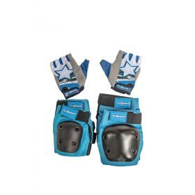 Blue Elbow & Knee Pads with Gloves