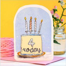 Birthday Card - 4 Today