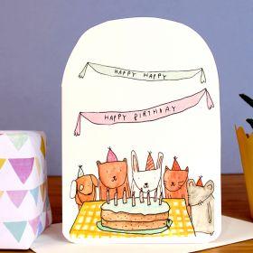 Birthday Card - Animal Party