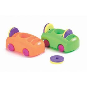 Push-Pull Car & Magnet Set of 2