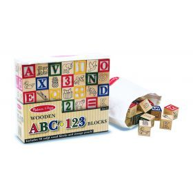 Melissa and Doug Wooden Abc123 Blocks