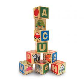Melissa and Doug - ABC-123 Wooden Blocks