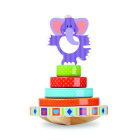 Melissa and Doug - First Play - Elephant Rocking Stacker