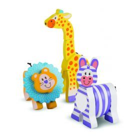 Melissa and Doug - First Play - Safari Grasping Toys