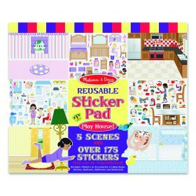 Melissa and Doug Reusable Sticker Pad - Play House