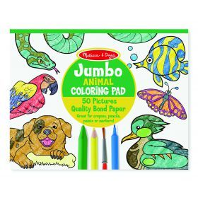 Melissa and Doug Jumbo Colouring Pad - Animals