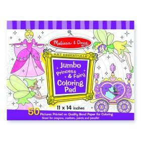 Melissa and Doug Jumbo Colouring Pad - Princess & Fairy
