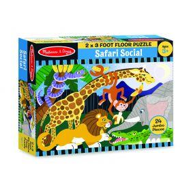 Melissa & Doug Safari Social Floor Puzzle 24pc