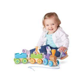 Melissa and Doug - First Play - Rocking Farm Animals Pull Train