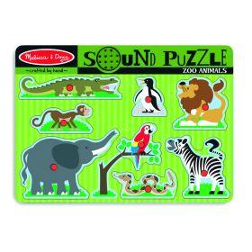 Melissa and Doug Zoo Animals Sound Puzzle – 8pc