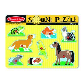 Melissa and Doug Pets Sound Puzzle - 8pc