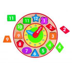 Melissa and Doug Wooden Shape Sorting Clock
