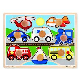 Melissa and Doug Large Vehicles Jumbo Knob Puzzle - 8pc