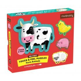 Mudpuppy Touch & Feel Puzzle - Farm Animals