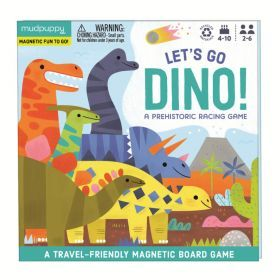 Mudpuppy Magnetic Board Game Lets Go Dinosaur