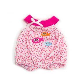 Miniland Clothing Light pink polkadot pyjamas, 32 cm